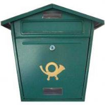Aboria Galvanised Post Box - Green
